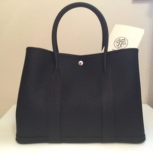 Hermes Garden Party 36 Tote Noir